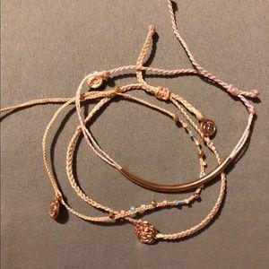 Pura Vida rose gold exclusive member bracelets